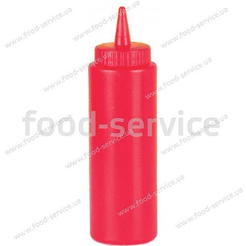 Дозатор для соусов 720 мл., красный, с колпачком