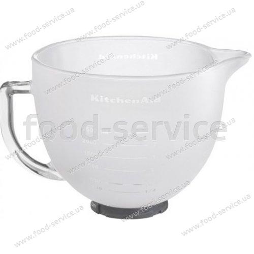 Чаша для миксера стеклянная матовая, 4.83 л. KitchenAid 5K5GBF