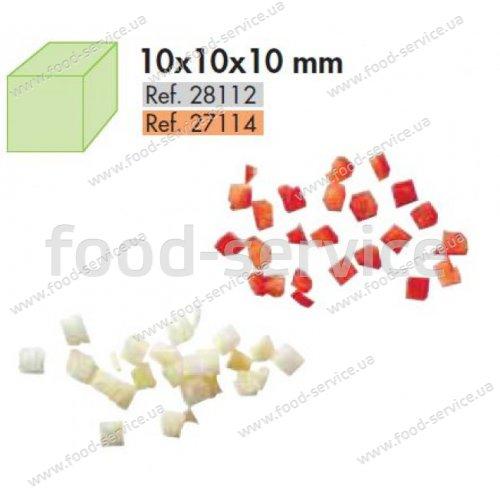 Диск для овощерезки Robot Coupe 28114 (решетка + слайсер) кубик 20х20х20 мм.