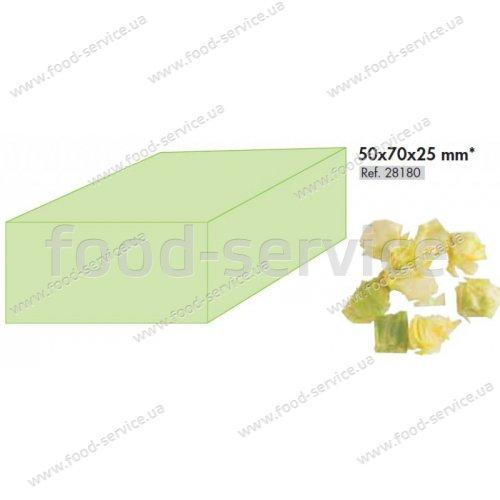 Диск для овощерезки Robot Coupe 28180 (решетка+слайсер), кубик 50х70х25 мм.