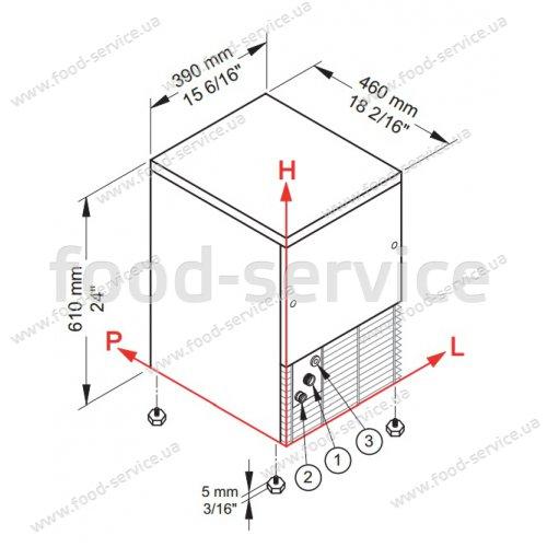 Льдогенератор кубикового льда Brema СВ 246А