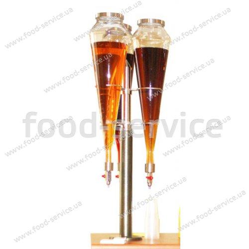 Стойка с 3 колбами для продажи газированных напитков и соков