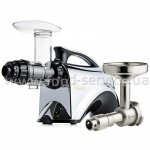 Шнековая соковыжималка SANA juicer by OMEGA 606 Silver + Sana Oil Extractor EUJ-702