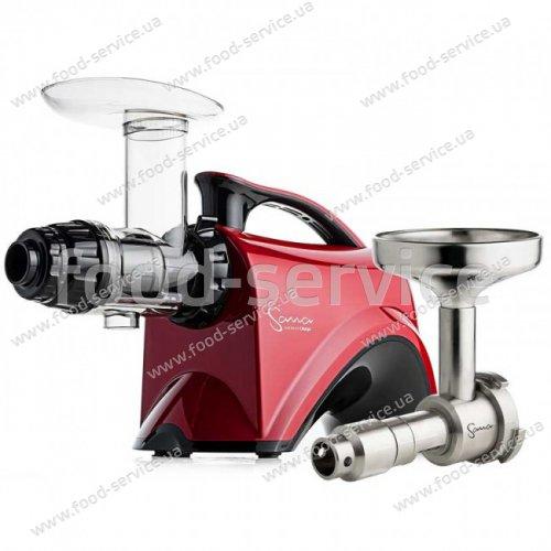 Шнековая соковыжималка SANA juicer by OMEGA 606 Red + Sana Oil Extractor EUJ-702