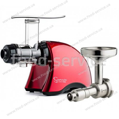 Шнековая соковыжималка Sana Juicer by Omega 707 Red + Sana Oil Extractor EUJ-702