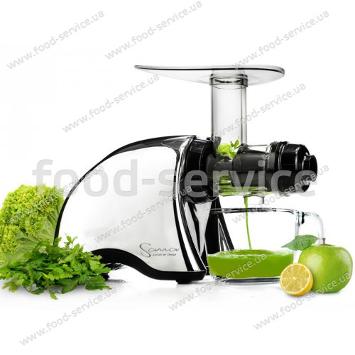 Шнековая соковыжималка Sana Juicer by Omega 707 chrome + Sana Oil Extractor EUJ-702