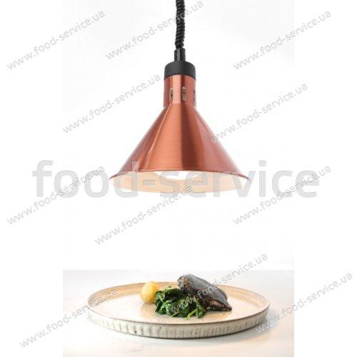 Коническая лампа для подогрева блюд с регулируемой высотой Hendi 273876 медная