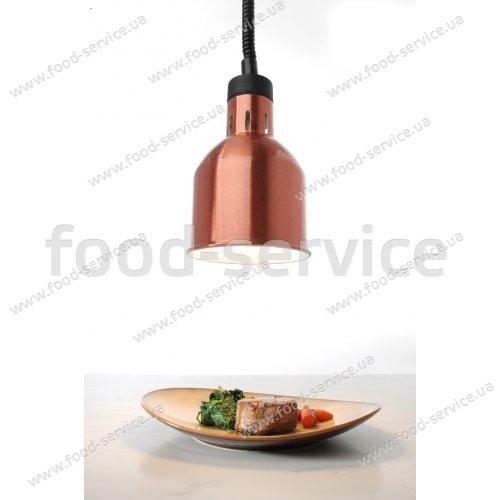 Цилиндрическая лампа для подогрева блюд с регулируемой высотой Hendi 273890 медная
