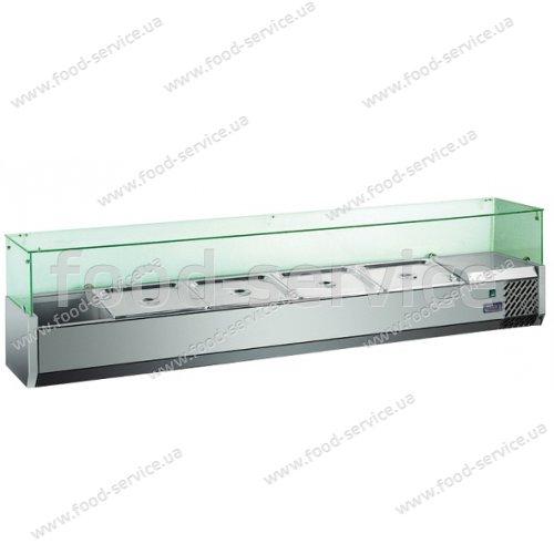 Витрина холодильная Hendi 232903 (прямое стекло 5xGN 1/4)