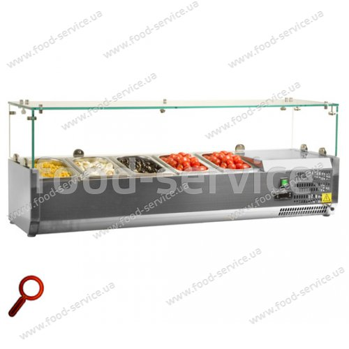 Витрина холодильная для пиццы TEFCOLD VK33-150 (прямое стекло)