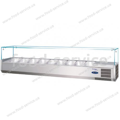 Витрина холодильная для пиццы TEFCOLD VK38-180 (прямое стекло)