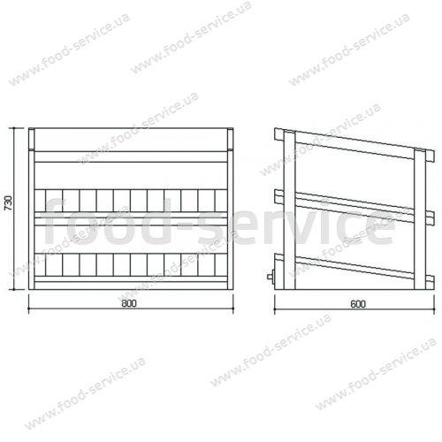 Тепловая витрина для гамбургеров Inoksan PMH 100