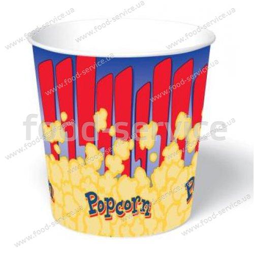 Стаканы для попкорна бумажный V130 (100шт)