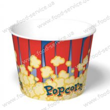 Стаканы для попкорна бумажный V85 (100шт)