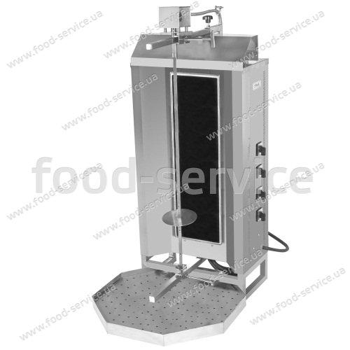 Шаурма электрическая с стеклокерамикой и электроприводом Pimak М077-4C