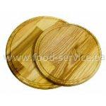 Доска деревянная круглая с желобом 30*2 см.