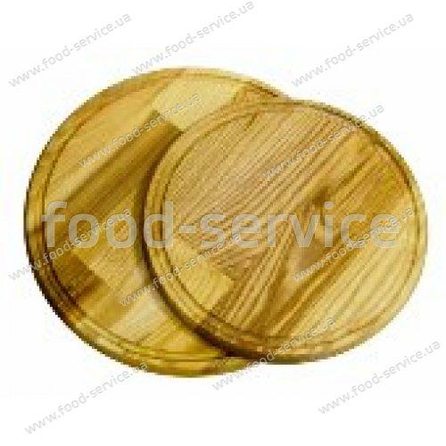Доска деревянная круглая с желобом 26*2 см.