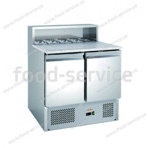 Стол для пиццы Frosty PS900 с гранитной столешней и салат-баром