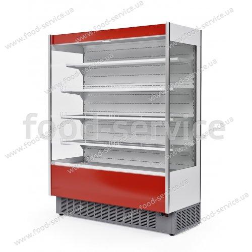 Холодильная витрина пристенная - горка МХМ Флоренция ВХСп-1,2 (красная) CUBE
