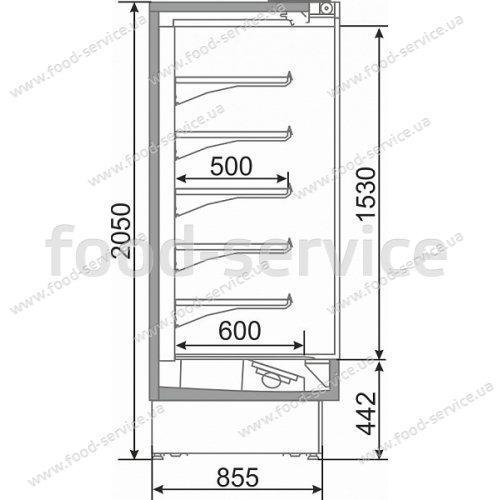 Универсальная горка СВИТЯЗЬ Q 180 ВСн DG с дверьми-стеклопакетами