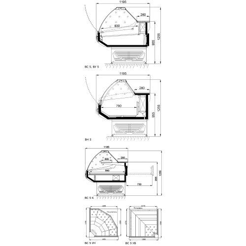 Холодильная витрина Ариада Титаниум ВС-5 УВ
