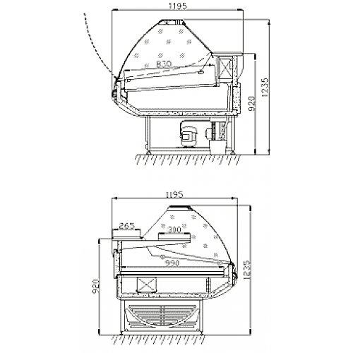 Холодильная витрина Ариада Титаниум ВС-5-180