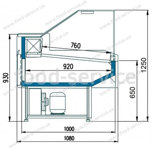 Холодильная витрина универсальная Двина CQ 180 ВСн