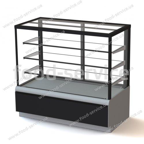 Витрина холодильная кондитерская Полюс Carboma ВХСв-1,3д Cube техно