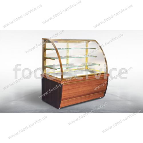 Витрина холодильная кондитерская ВХК(Д) «ДАКОТА» - 1,5 МДФ
