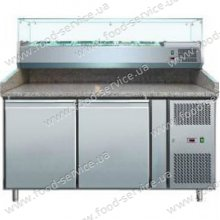 Стол для пиццы COOLEQ PZ2600TN - VRX 1500/380 с гранитной столешней и салат-баром