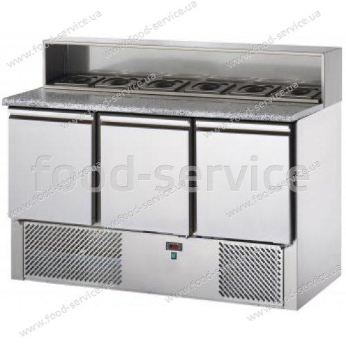 Стол для пиццы DGD SL03AI с гранитной столешницей и салат-баром