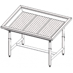 Стол для выкладки рыбы под центральный холод Инокс-маркет 1200, Техно 1
