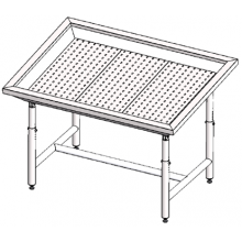 Стол для выкладки рыбы нейтральный Инокс-маркет 1500, Техно 1