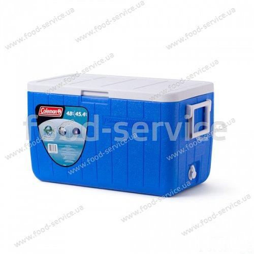 Термобокс  для транспортировки напитков COOLER 48QT BLUE NO TRAY