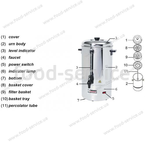 Аппарат чай-кофе Hendi 15л 208205