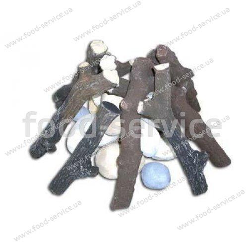 Муляжи керамических поленьев и камешков