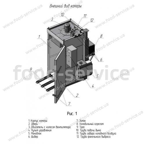 Коптильная камера КТД-50