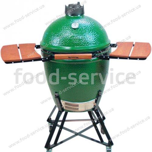 Гриль-печь Big Green Egg Large в гнезде с полками