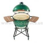 Гриль-печь Big Green Egg Extra Large в гнезде с полками