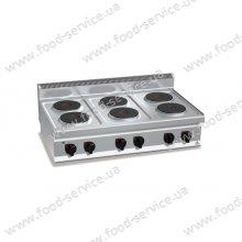 Плита электрическая 6-ти конфорочная Bertos E7P6B
