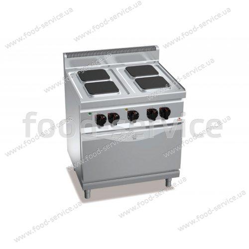 Плита эл. 4-х конфорочная с духовкой Bertos E7PQ4+ FE1