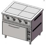 Плита 6-ти конфорочная с духовым шкафом ПЭ-6-Ш