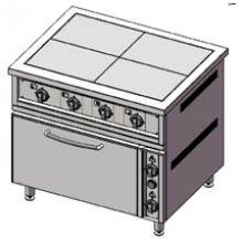 Плита 2-х конфорочная с духовым шкафом ПЭ-2-Ш