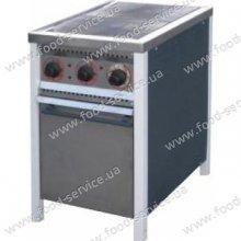 Плита 2-х конфорочная с духовым шкафом ПЕ-2Ш Ч Эконом