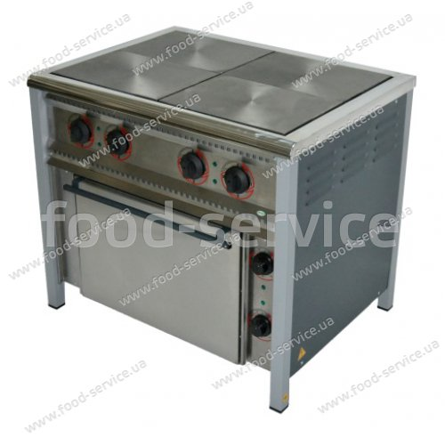 Плита 4-х конфорочная с духовым шкафом ПЕ-4Ш
