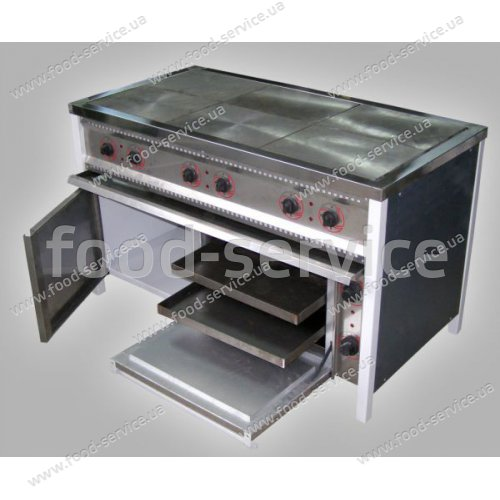 Плита 6-ти конфорочная с духовым шкафом ПЕ-6Ш Ч