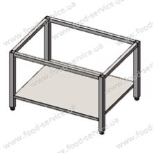 Подставка для плиты 4-х конфорочной с полкой (нерж.)