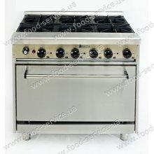 Плита газовая 6 конф. с духовкой CustomHeat GR 6-36