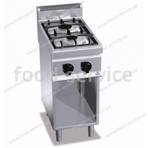 Плита газовая 2-х конфорочная Bertos G7F2ME+1P400 DX