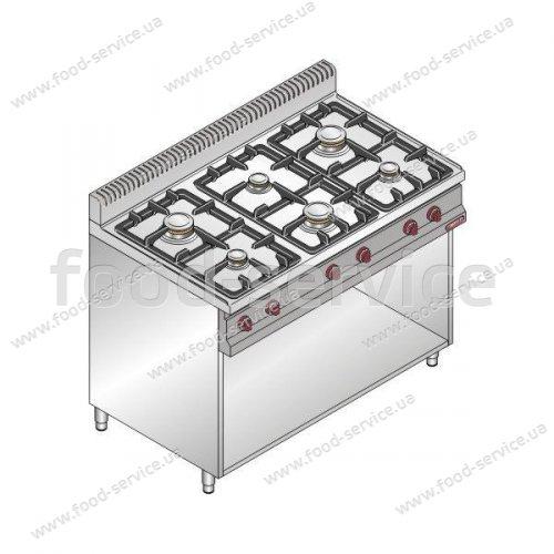 Плита газовая 6 конфорочная Bertos G7F6ME+A6